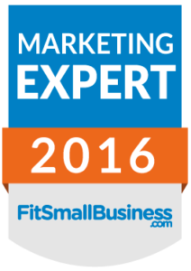 Marketing Expert award from Fit Small Business and link to an expert roundup quoting Shel